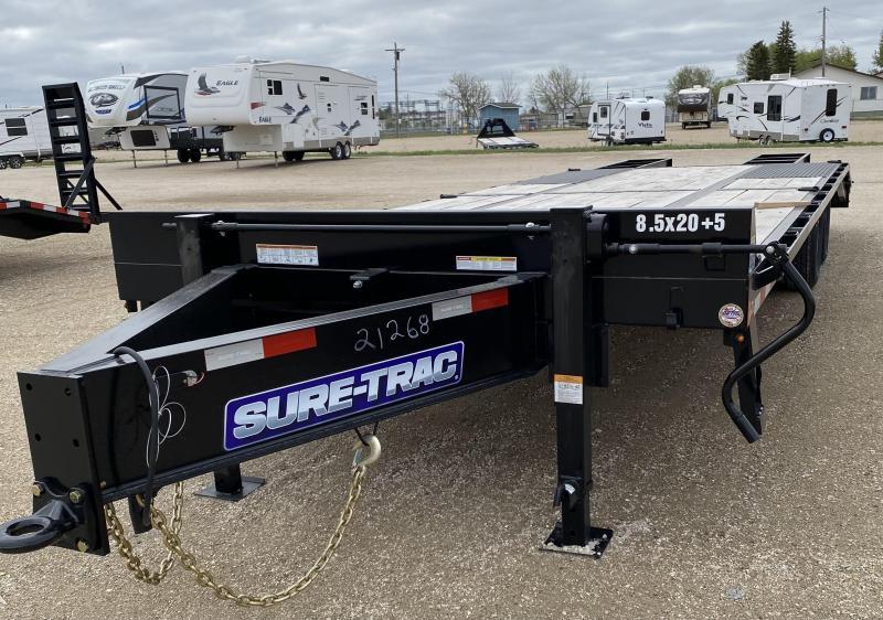 2021 Sure-Trac 8.5 x 20+5 HD Pintle Low Pro Flat Deck Deckover BT 20K