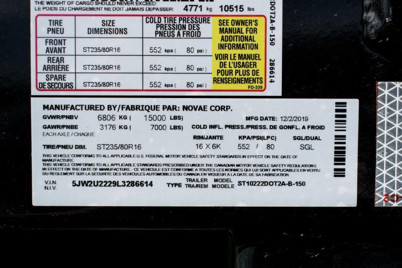 2020 Sure-Trac 8.5 x 22 Deckover Tilt Tandem BP 15K