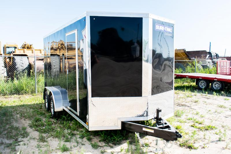 2021 Sure-Trac 7 x 16 Pro Series Wedge Cargo Enclosed Trailer 10K Ramp