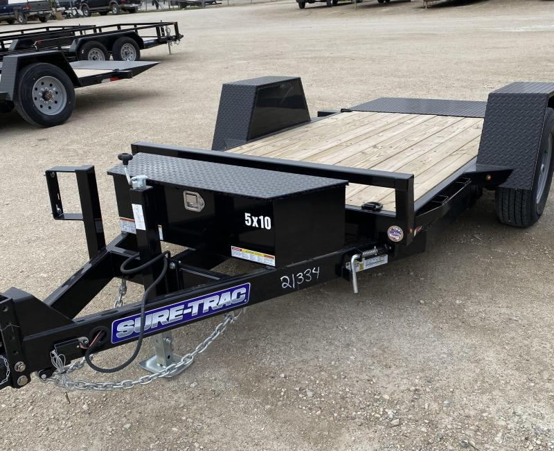 2021 Sure-Trac 62 IN x 10 Single Axle Tilt Bed Equipment 6K