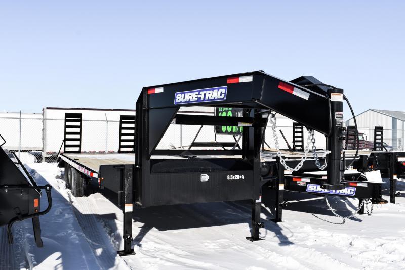 2021 Sure-Trac 8.5 x 20+4 Standard Duty Gooseneck Beavertail 14K