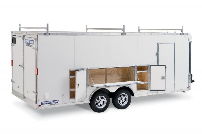2021 Sure-Trac 8.5 x 20 HD Contractor Pro Enclosed/Cargo Bullnose Trailer 10K Barn