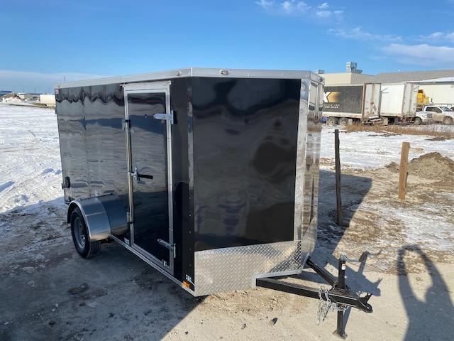 2021 Cargo Mate 6 x 12 Enclosed Cargo Trailer 3K Ramp Door