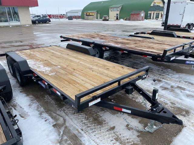 2021 Sure-Trac 7 x 18 (16+2)Open Car Hauler Trailer 10K