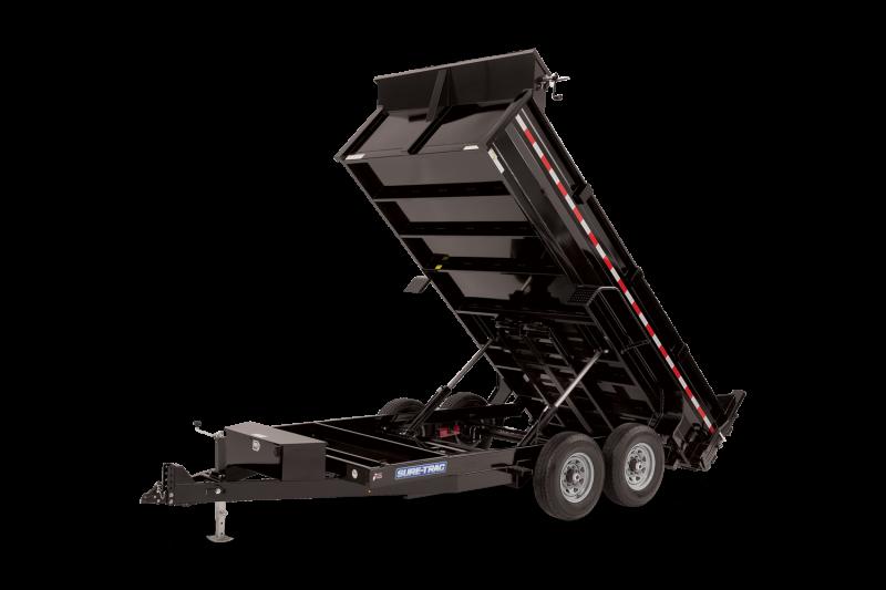 2021 Sure-Trac 7 x 12 HD Low Profile Dual Ram Dump Trailer 14K