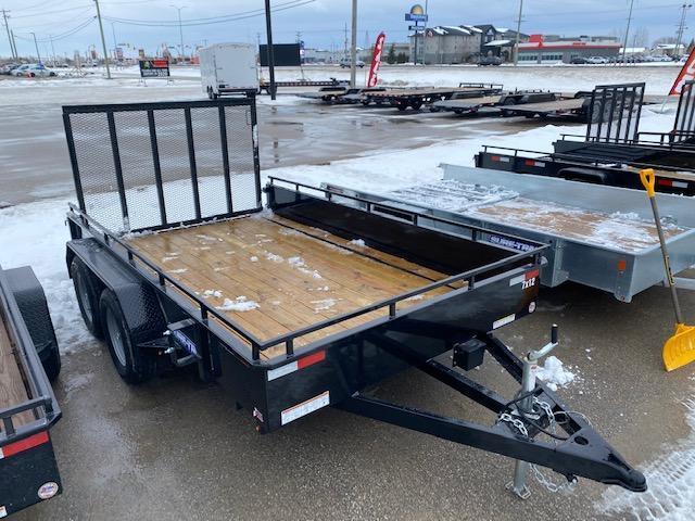 2021 Sure-Trac 7 x 12 Steel High Side Utility Trailer 7K
