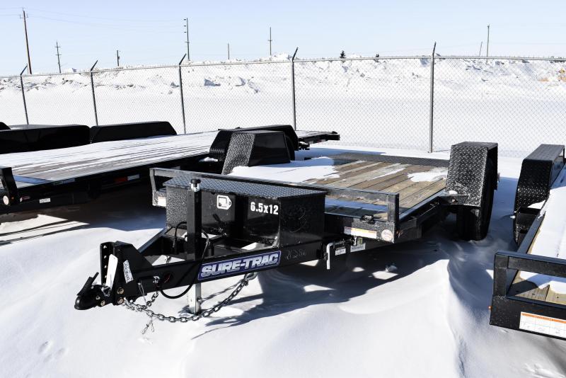 2021 Sure-Trac 6.5 x 12 Single Axle Tilt Bed Equipment Trailer 7.8K