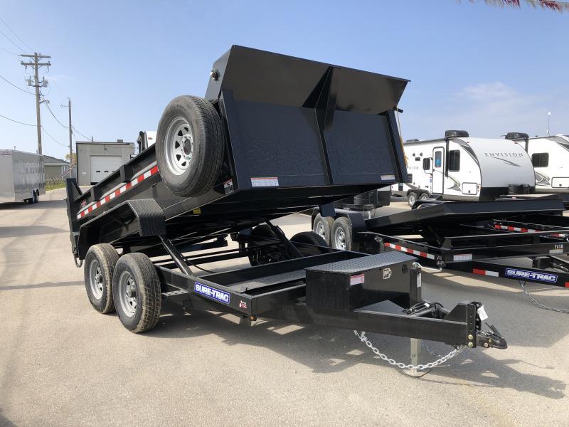 2021 Sure-Trac 7 x 12 HD Low Profile Dump Trailer 12K