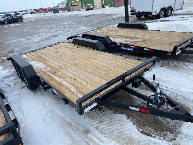 2021 Sure-Trac 7 x 16 (14+2) C-Channel Car Hauler 7K