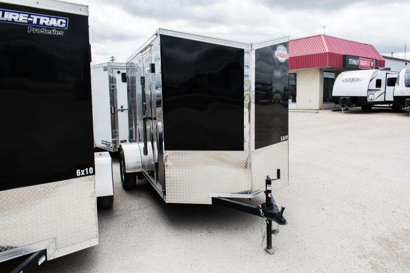 2020 Cargo Mate 5.5 x 10 Enclosed Cargo Trailer 3K Ramp