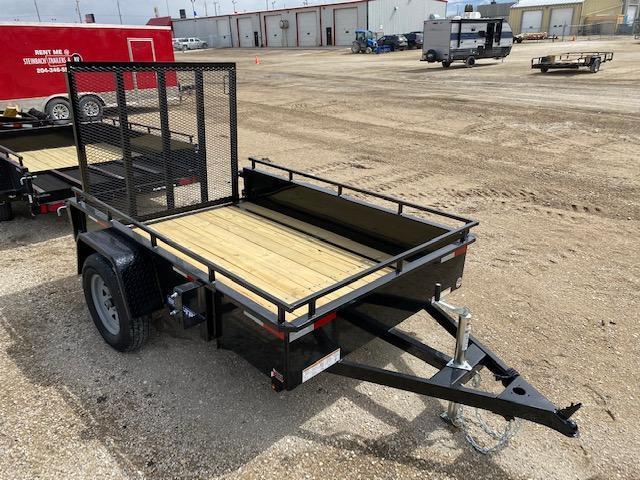 2021 Sure-Trac 5 x 8 Steel High Side Trailer 3K Idler