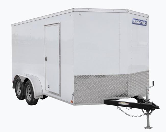 "2021 Sure-Trac 7 x 14 Pro Series Enclosed Cargo +6""  7K Ramp"