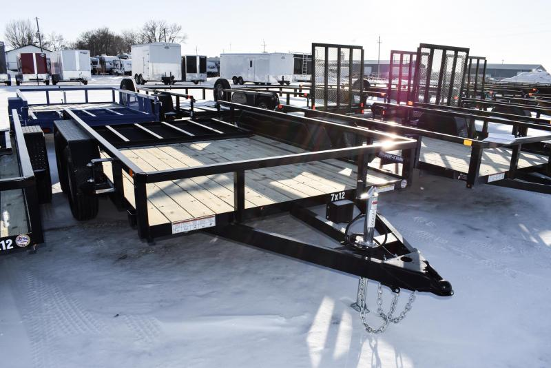 2021 Sure-Trac 7 x 12 Tube Top Utility Trailer 7K Tandem