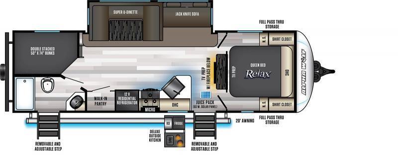 2022 Alpha Wolf Limited 26DBH-L Bunk Model Travel Trailer
