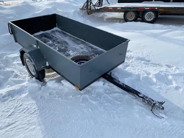 4 x 8 Utility Trailer Tilt Deck Steel Sides