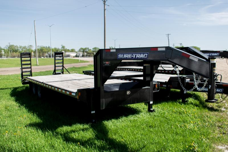 2020 Sure-Trac 8.5 X 20+4 Gooseneck Beavertail Deckover  14K