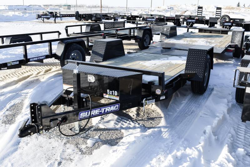 2021 Sure-Trac 62 IN x 10 Single Axle Tilt Bed Equipment Trailer 6K