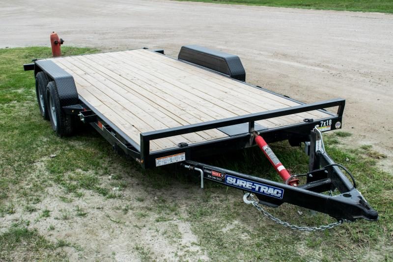 2020 Sure-Trac 7 x 18 Tilt Bed Car Hauler  10k