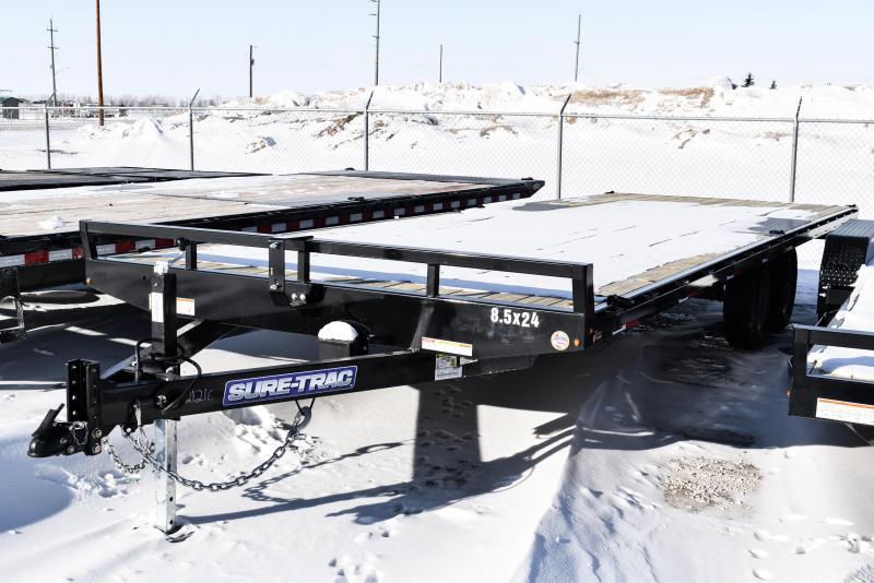 2021 Sure-Trac 8.5 x 24 Low Profile Flat Deck Deckover 10K