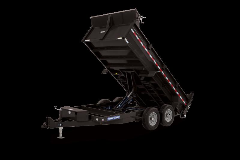 2021 Sure-Trac 7 x 14 HD Low Profile Scissor Lift Dump Trailer 14K