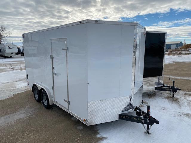 """2022 Cargo Mate 8 X 16 Enclosed Cargo Trailer +12"""" Ramp"""