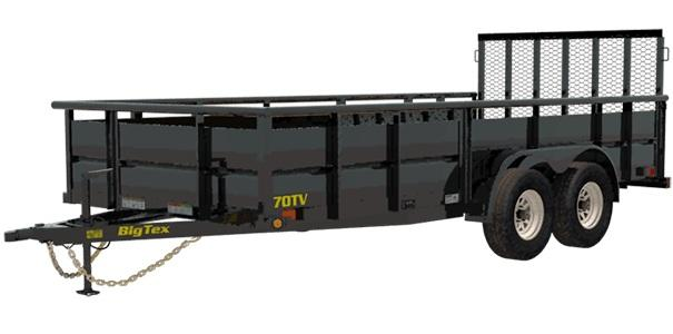 2021 Big Tex Trailers 6.10x14 70TV-14 Utility Trailer