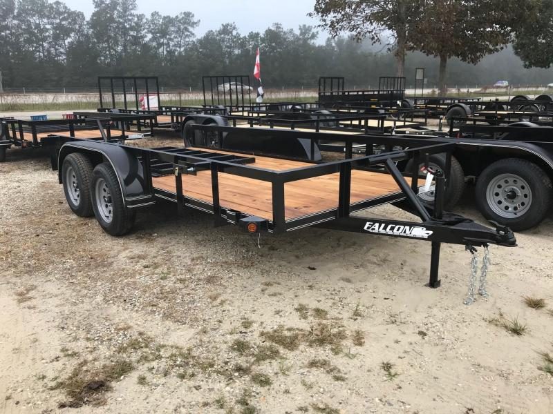 2020 Falcon 6.5x14 NO BRAKES 14SD Utility Trailer