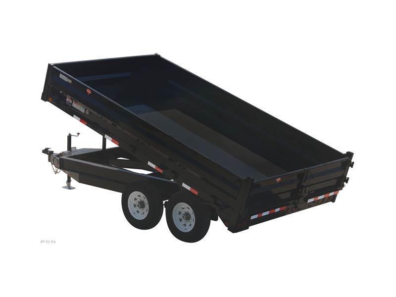 2021 PJ Trailers 8x16 96 in. Deckover Dump (D8) Dump Trailer