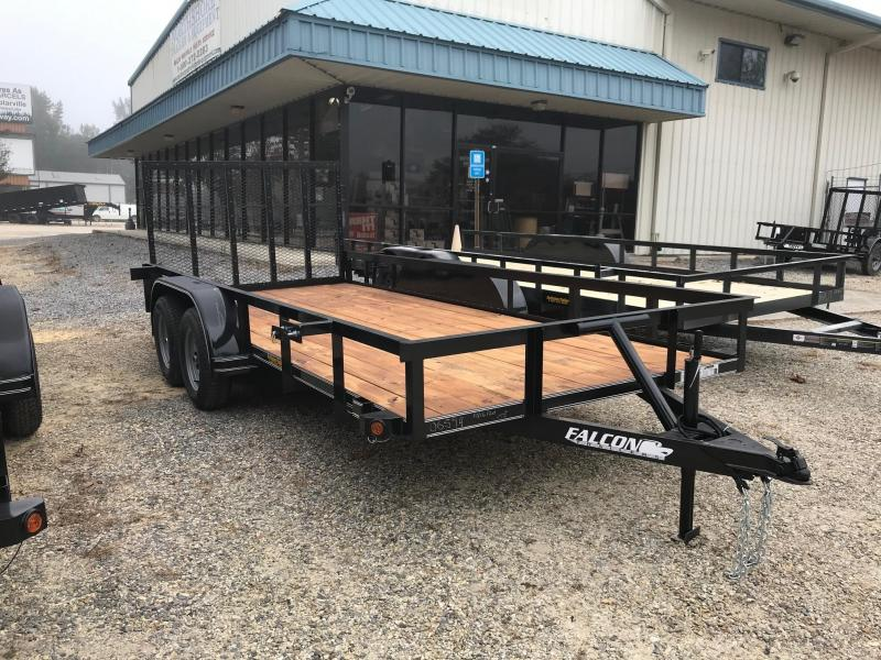 2020 Falcon 6.5x16 NO BRAKES 16SD Utility Trailer