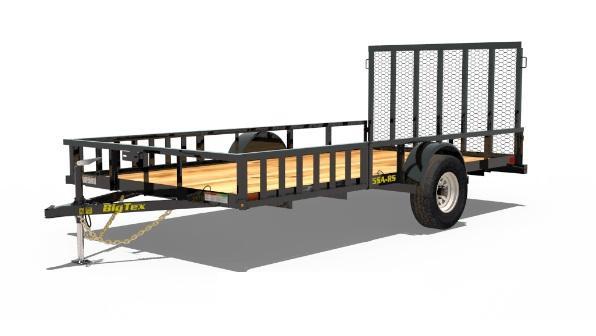 2021 Big Tex Trailers 6.10x14 w/Side Ramps 35SA-14RSX ATV Trailer