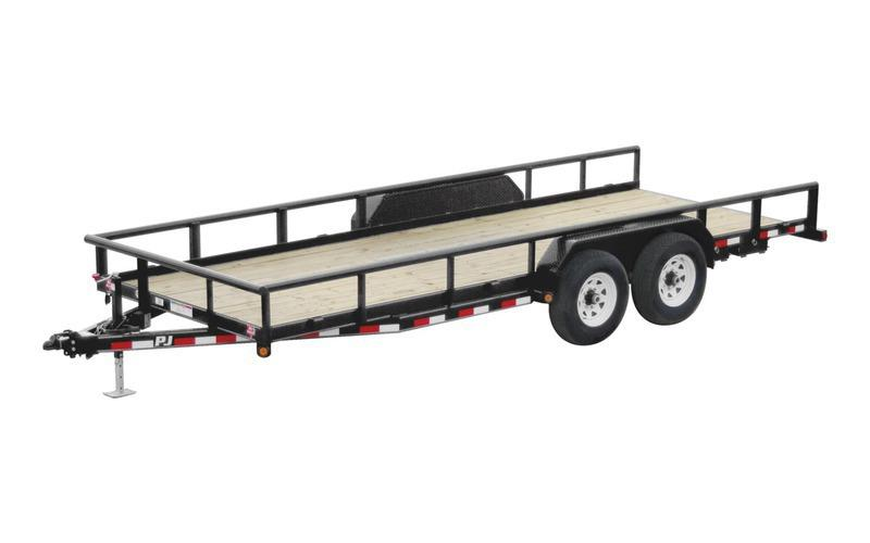 "2022 PJ Trailers 83"" x 18' 14K Angle Pipetop Trailer (P8) Utility Trailer"