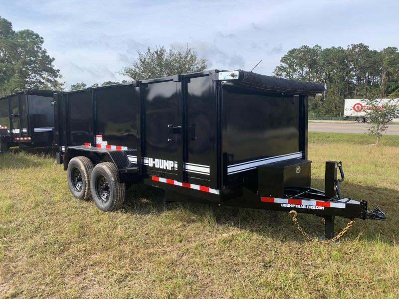 2021 U-Dump 7x14 Pro Series 831414LP w'4' Sides Dump Trailer