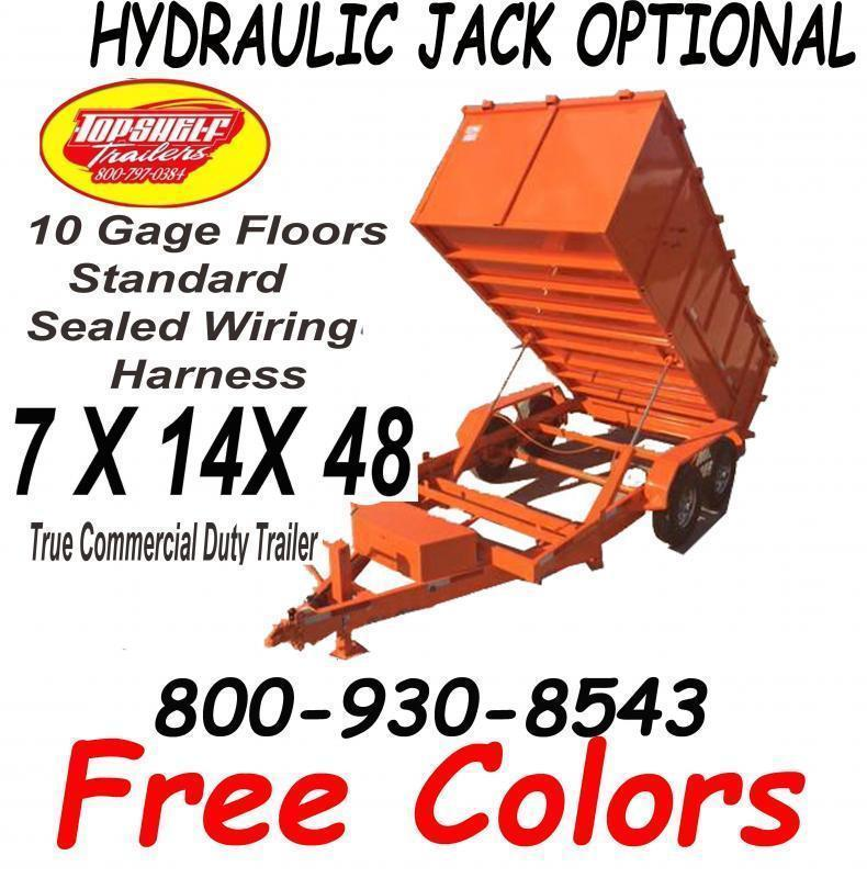 FREE COLORS ON DUMP TRAILER LIMITED TIME 7 x 14  x 48 TRAILERS