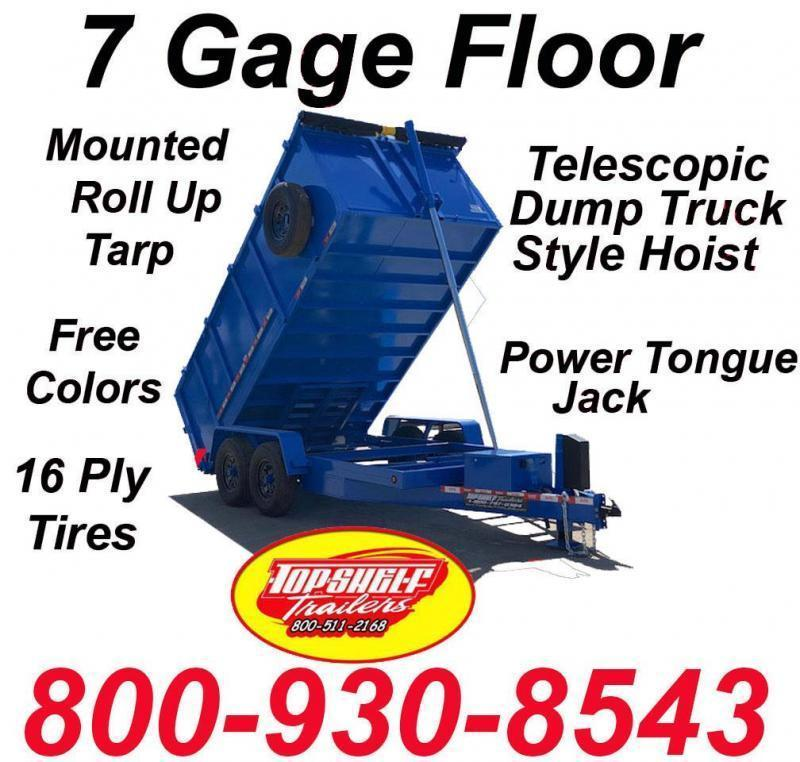 BUY DIRECT DUMP TRAILER FREE COLORS LIMITED TIME 7 x 14  x 48 TRAILERS