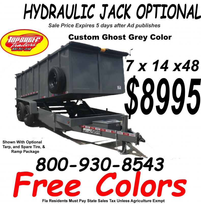 NEW DUMP TRAILER FREE COLORS LIMITED TIME 7 x 14  x 48 TRAILERS