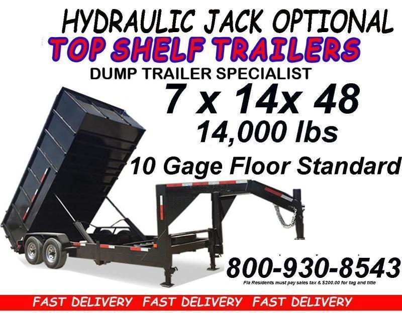 7 x 16 x 48 DUMP TRAILER  4 Foot High Walls Heavy Duty Best Trailer
