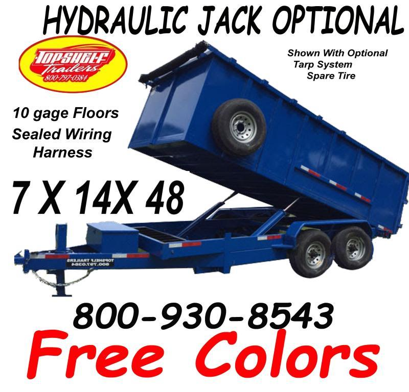 DUMP TRAILER FREE COLORS LIMITED TIME 7 x 14  x 48 TRAILERS