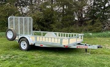 "2021 ED Trailer Mfg 12' x 77"" Single Axle Utility Trailer"