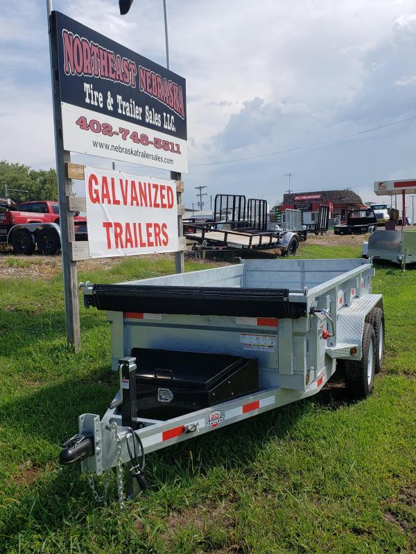 "2020 ED Trailer Mfg 10' x 60"" Galvanized Utility Dump Dump Trailer"