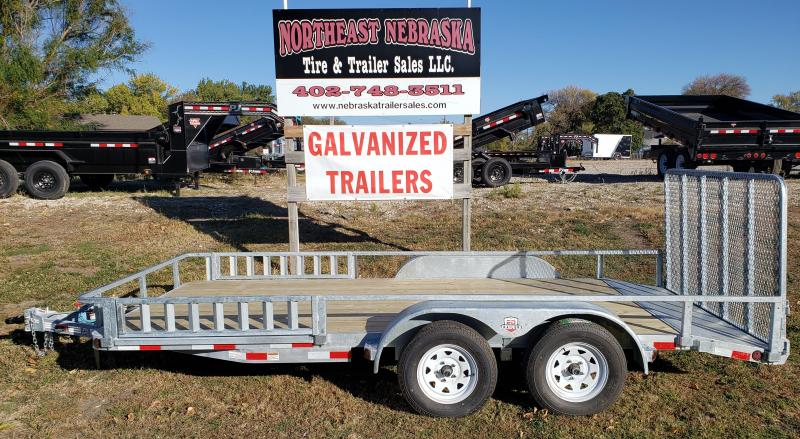 2021 ED Trailer Mfg 83 x 16 Tandem Axle Galvanized Utility Trailer