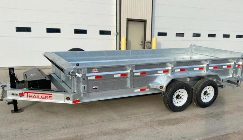"2021 ED Trailer Mfg 16' x 83"" Low Pro Hot Dip Galvanized Dump Trailer"