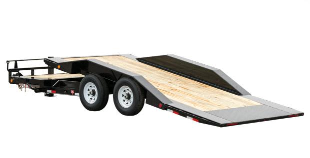 "2021 PJ Trailers 22' x 6"" Channel Super-Wide Tilt (TS) Equipment Trailer"