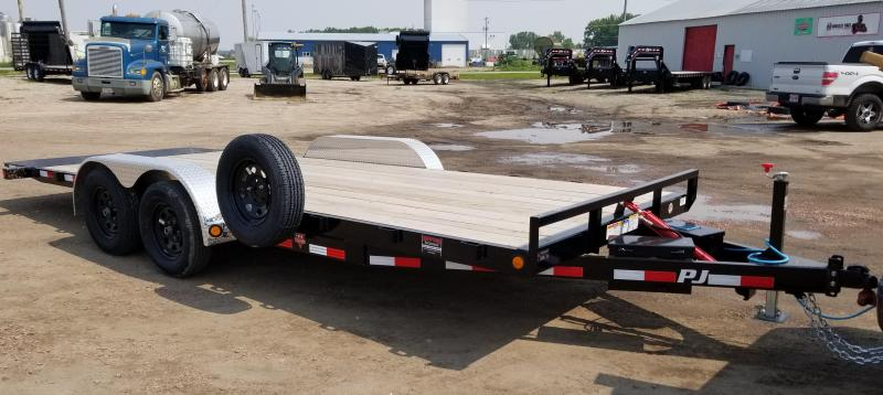 2019 PJ Trailers 20' x 83 in. Hydraulic Quick Tilt (TH) Equipment Trailer