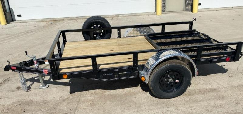 2021 PJ Trailers 10' x 60 in. Single Axle Channel Utility (U6) Utility Trailer