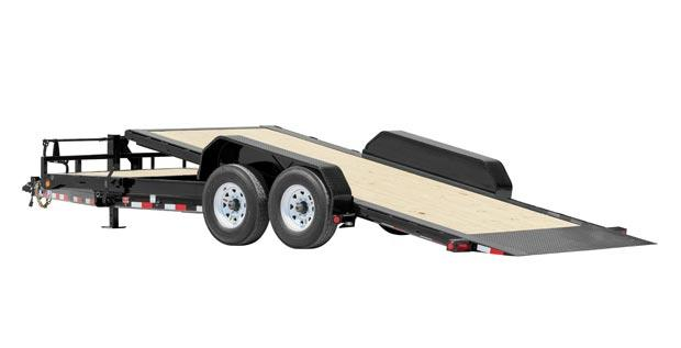 2021 PJ Trailers HD Equipment Tilt 24' x 6 in. Channel (TJ) Equipment Trailer