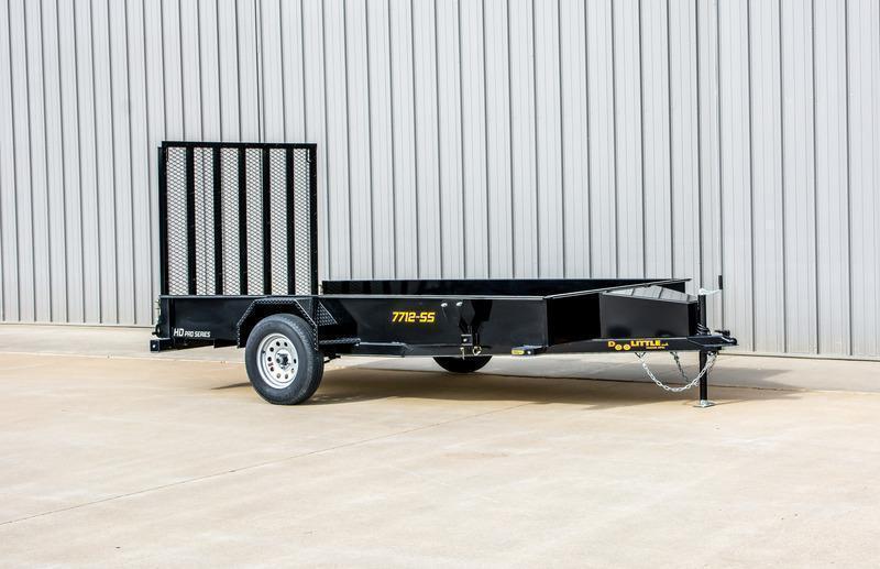 2022 Doolittle Trailer Mfg 84 x 14 Single Axle Solid Side Utility Trailer
