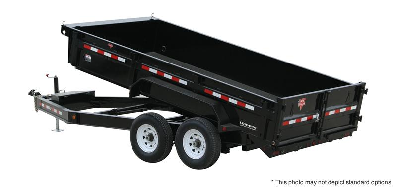 "2021 PJ Trailers 14'x83"" Low Pro Dump Trailer"