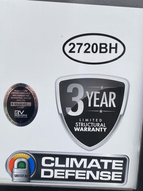 2021 Cruiser RV MPG Ultra Lite 2720BH Travel Trailer