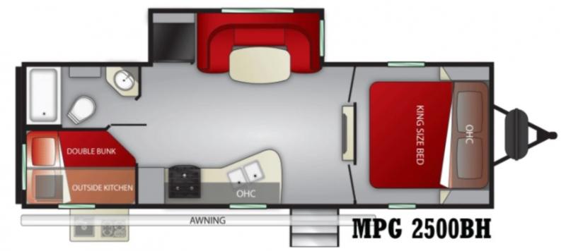 2021 Cruiser RV MPG Ultra Lite 2500BH Travel Trailer