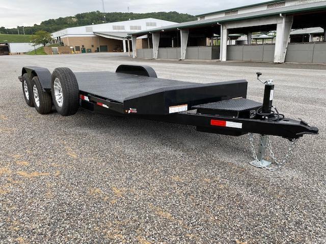 Sure-Trac 7 x 20 (16+4) Steel Deck Car Hauler Trailer